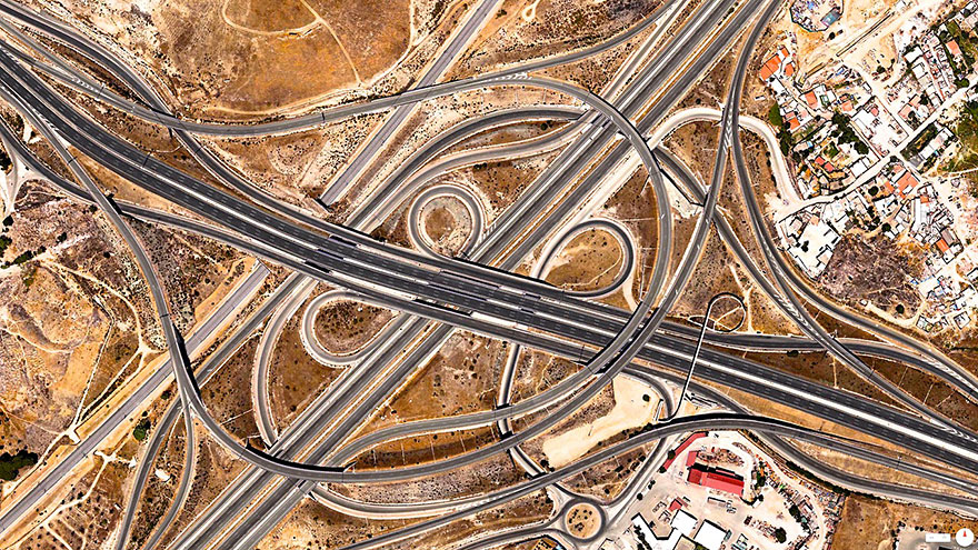 Highway-Junction-Madrid-Spain