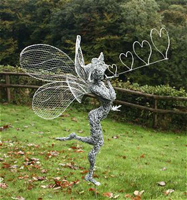 Incredible fairy wire sculptures turn any backyard into a for Wire yard art